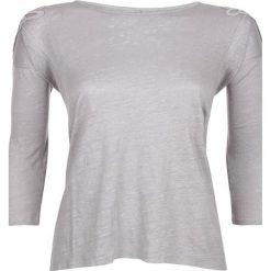 Bluzki asymetryczne: Lniana koszulka w kolorze szarym