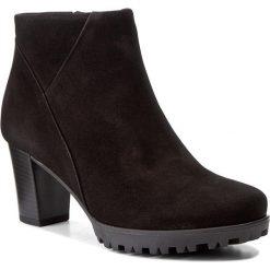 Botki GABOR - 72.861.47 Schwarz. Czarne buty zimowe damskie Gabor, z materiału. W wyprzedaży za 319,00 zł.