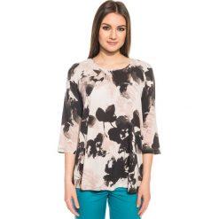 Bluzki asymetryczne: Zwiewna bluzka z rękawem 3/4 BIALCON