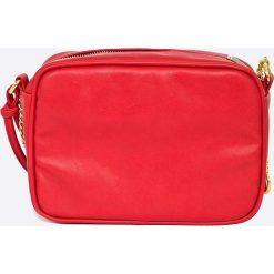 Felice - Torebka. Czerwone torebki klasyczne damskie Felice, z materiału. W wyprzedaży za 89,90 zł.