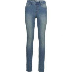 """Jegginsy z zamkami bonprix niebieski """"stone"""". Niebieskie legginsy bonprix, z jeansu. Za 79,99 zł."""