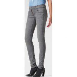 G-Star Raw - Jeansy Lynn Zip Mid Skinny. Szare jeansy damskie rurki marki G-Star RAW, z obniżonym stanem. W wyprzedaży za 179,90 zł.