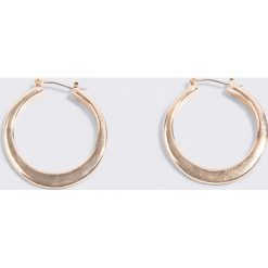 NA-KD Accessories Masywne kolczyki obręcze - Gold. Szare kolczyki damskie NA-KD Accessories, z angielskim zapięciem. Za 52,95 zł.