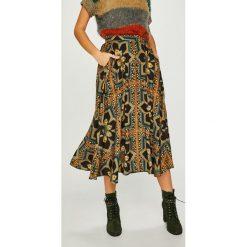 Answear - Spódnica Heritage. Szare spódniczki rozkloszowane ANSWEAR, m, z materiału, midi. W wyprzedaży za 119,90 zł.