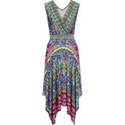 Sukienki hiszpanki: Sukienka bonprix zielony wzorzysty
