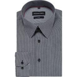 Koszula SIMONE slim KDWS000401. Czarne koszule męskie na spinki marki Cropp, l. Za 149,00 zł.