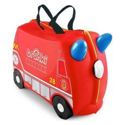 Trunki Walizka + Samochód Frankie. Czerwone walizki marki Trunki, w paski. W wyprzedaży za 189,00 zł.