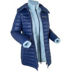 Kurtka pikowana 3 w 1 z wewnętrzną bluzą z polaru bonprix kobaltowy. Niebieskie bluzy polarowe bonprix. Za 139,99 zł.