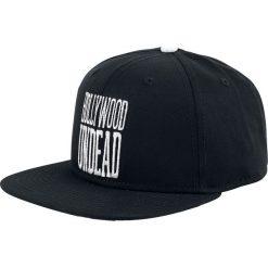 Hollywood Undead Mirrored Doves Czapka Snapback czarny/biały. Białe czapki z daszkiem damskie marki Hollywood Undead, z aplikacjami, z tworzywa sztucznego. Za 99,90 zł.