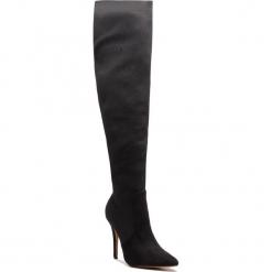 Muszkieterki KAZAR - Santa 35568-S4-00 Black. Czarne kowbojki damskie Kazar, z materiału, przed kolano, na wysokim obcasie. Za 749,00 zł.