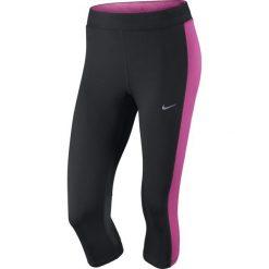 Legginsy damskie do biegania: legginsy do biegania damskie 3/4 NIKE DRI-FIT ESSENTIAL CAPRI / 645603-013 – NIKE DRI-FIT ESSENTIAL CAPRI