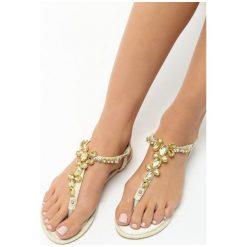Beżowe Sandały Prosperous. Brązowe sandały damskie Born2be, z materiału, na obcasie. Za 59,99 zł.