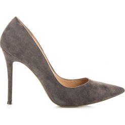 Buty ślubne damskie: Czółenka na szpilce zamszowe