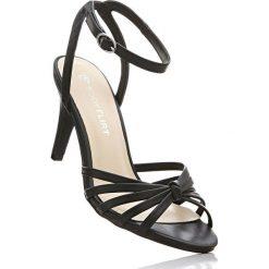 Sandały bonprix czarny. Czarne sandały damskie marki bonprix, w paski. Za 99,99 zł.