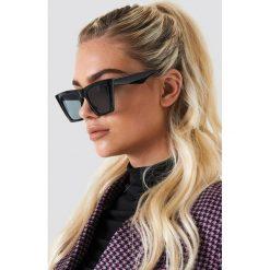 Okulary przeciwsłoneczne damskie aviatory: NA-KD Accessories Okulary przeciwsłoneczne ostre kocie oczy - Black