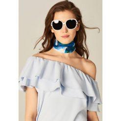 Okulary przeciwsłoneczne damskie aviatory: Okulary przeciwsłoneczne – Biały