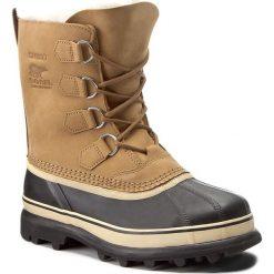 Śniegowce SOREL - Caribou NL1005 Buff 281. Brązowe buty zimowe damskie Sorel, z gumy. Za 699,99 zł.