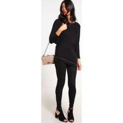 Bluzki asymetryczne: Aaiko SABIRA RAY  Bluzka z długim rękawem black