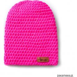 Czapka dziana KRAFF PINK handmade. Różowe czapki zimowe damskie Pakamera, z dzianiny. Za 109,00 zł.