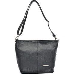 Torebki klasyczne damskie: Skórzana torebka w kolorze czarnym – 26 x 36 x 14 cm