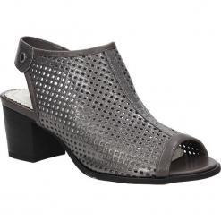 Sandały ażurowe Jezzi SA69-7. Szare sandały damskie Jezzi, w ażurowe wzory. Za 89,99 zł.