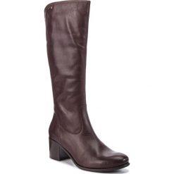 Kozaki LASOCKI - 0965-01BIG Brązowy. Brązowe buty zimowe damskie Lasocki, ze skóry, przed kolano, na wysokim obcasie. Za 349,99 zł.