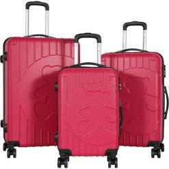 Walizki: Zestaw walizek w kolorze fuksji – 3 szt.