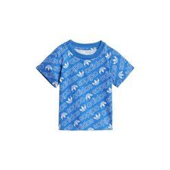 T-shirty z krótkim rękawem Dziecko  adidas  Koszulka Trefoil Monogram. Niebieskie bluzki dziewczęce z krótkim rękawem Adidas. Za 79,95 zł.