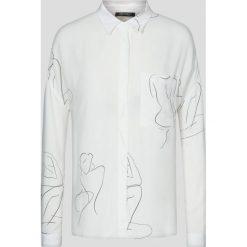 Bluzki asymetryczne: Luźna bluzka z nadrukiem