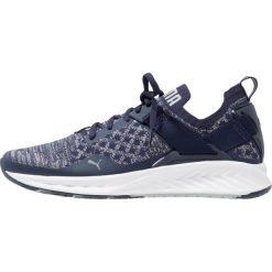 Puma IGNITE EVOKNIT  Obuwie do biegania treningowe blue. Niebieskie buty do biegania damskie marki Puma, z materiału. W wyprzedaży za 356,30 zł.