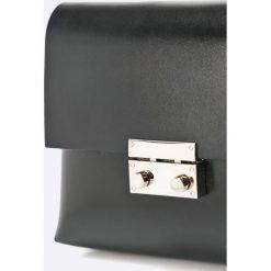 Gino Rossi - Torebka skórzana Luli. Czarne torebki klasyczne damskie marki Gino Rossi, w paski, z materiału, małe. Za 569,90 zł.