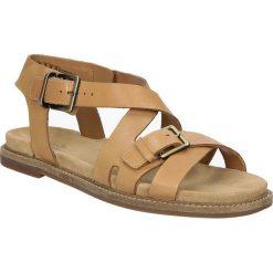 Sandały brązowe skórzane Clarks Corsio Bambi 26123124. Brązowe sandały damskie Clarks. Za 229,99 zł.