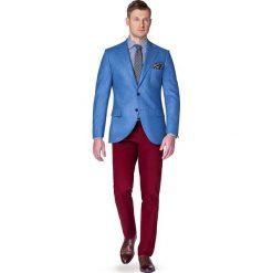 Marynarka Niebieska Malaga. Niebieskie marynarki męskie slim fit marki LANCERTO, w kolorowe wzory, z syntetyku. W wyprzedaży za 299,90 zł.