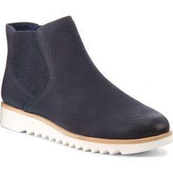 Sztyblety TAMARIS - 1-25300-20 Navy 805. Szare buty zimowe damskie marki Tamaris, z materiału. W wyprzedaży za 189,00 zł.