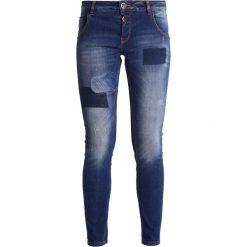 Mos Mosh BRADFORD WAFFLE  Jeansy Slim fit blue denim. Niebieskie rurki damskie Mos Mosh. W wyprzedaży za 419,30 zł.