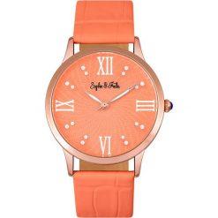 """Zegarki damskie: Zegarek kwarcowy """"Sonoma"""" w kolorze pomarańczowo-różowozłotym"""