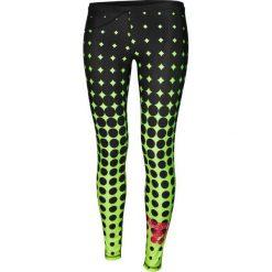Spodnie dresowe damskie: Feeljoy Spodnie damskie  Dots Lime Long W czarno-żółto-czerwone r. M