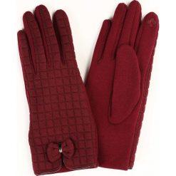 Bordowe Rękawiczki The Touch Of Heat. Czerwone rękawiczki damskie other. Za 19,99 zł.