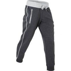 Spodnie sportowe, dł. 7/8 bonprix szaro-matowy srebrny melanż. Szare spodnie sportowe damskie bonprix, melanż. Za 37,99 zł.