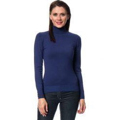 Golfy damskie: Sweter w kolorze granatowym