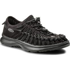 Sandały KEEN - Uneek O2 1018723 Black/Black. Czarne rzymianki damskie Keen, z materiału. W wyprzedaży za 259,00 zł.