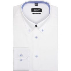 Koszula mells 2203 długi rękaw custom fit biały. Białe koszule męskie Recman, m, z długim rękawem. Za 89,00 zł.