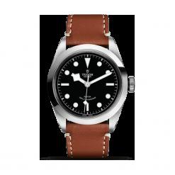 ZEGAREK TUDOR Black Bay 41 79540 CALF LEATHER BLACK IND W. Czarne zegarki męskie TUDOR, szklane. Za 10890,00 zł.