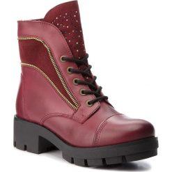 Trapery EVA MINGE - Amposta 4B 18DP1372520DEF 134. Czerwone buty zimowe damskie Eva Minge, z materiału. W wyprzedaży za 339,00 zł.
