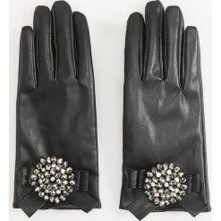 Rękawiczki z ozdobą - Czarny. Czarne rękawiczki damskie Reserved. Za 99,99 zł.