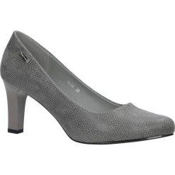 Szare czółenka na słupku wzór wąż Sergio Leone 1459. Czarne buty ślubne damskie marki Sergio Leone. Za 108,99 zł.