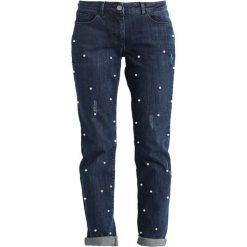 Boyfriendy damskie: Betty & Co Jeansy Straight Leg dark blue/cream