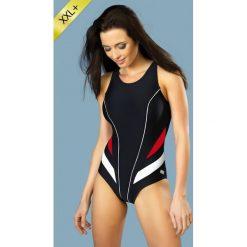 Damski kostium kąpielowy Laila jednoczęściowy. Czerwone stroje jednoczęściowe marki Astratex, w koronkowe wzory, z wiskozy. Za 139,99 zł.