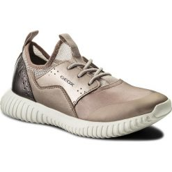 Sneakersy GEOX - J Waviness G. B J826DB 015NF C8011 D Rose. Szare półbuty damskie skórzane marki Geox. Za 289,00 zł.