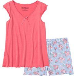 Piżamy damskie: Piżama z krótkimi spodenkami bonprix jasnoróżowy w kwiaty